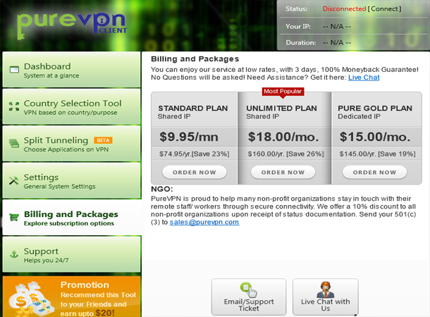 PureVPN Pricing3 PureVPN Review   The Art of Privacy, Security & Freedom